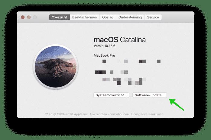 mac update installeren