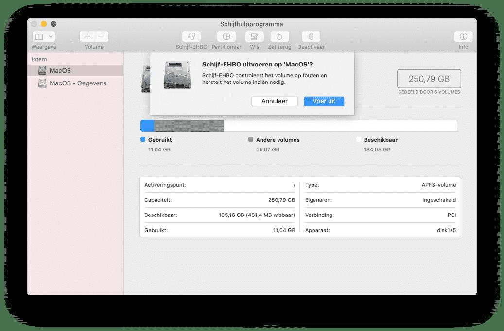 schijf-ehbo uitvoeren mac