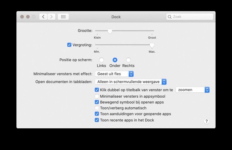 visuele effecten uitschakelen mac
