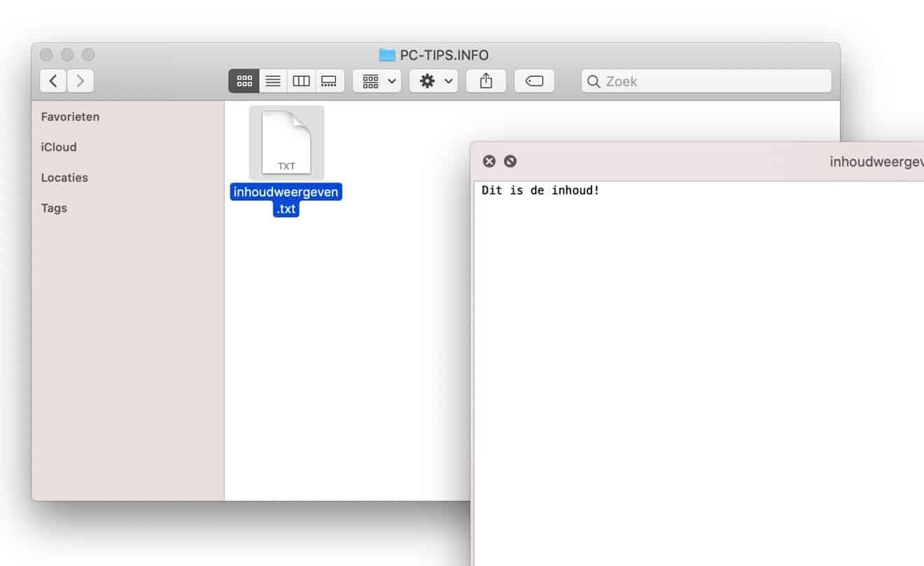 bestand snel openen mac