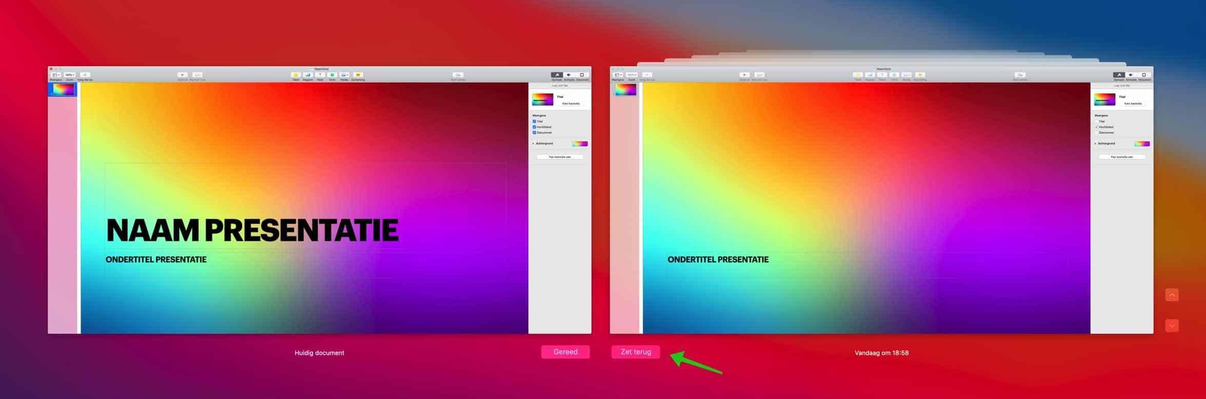 documenten herstellen mac