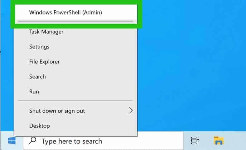 open windows powershell admin