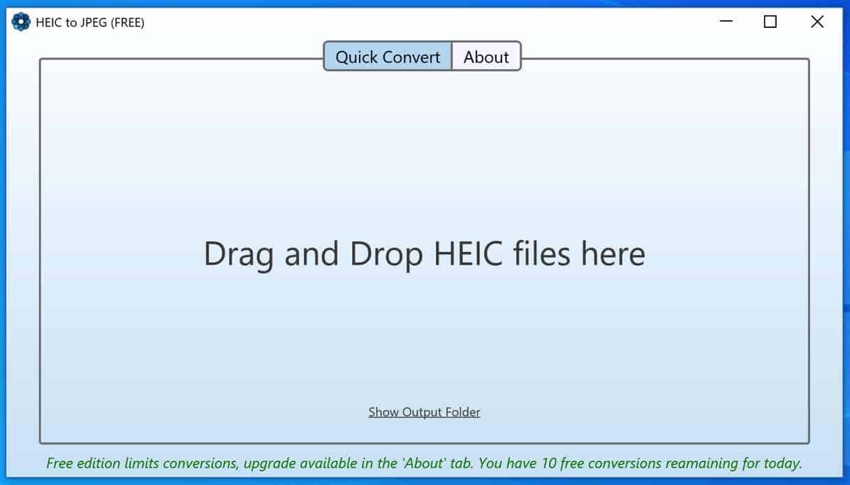 HEIC to jpeg applicatie