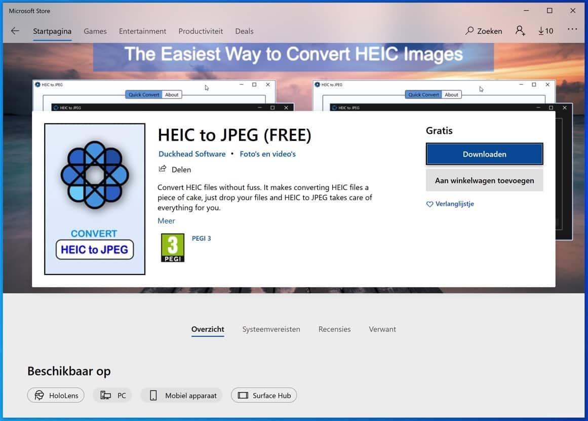 heic to jpg microsoft store