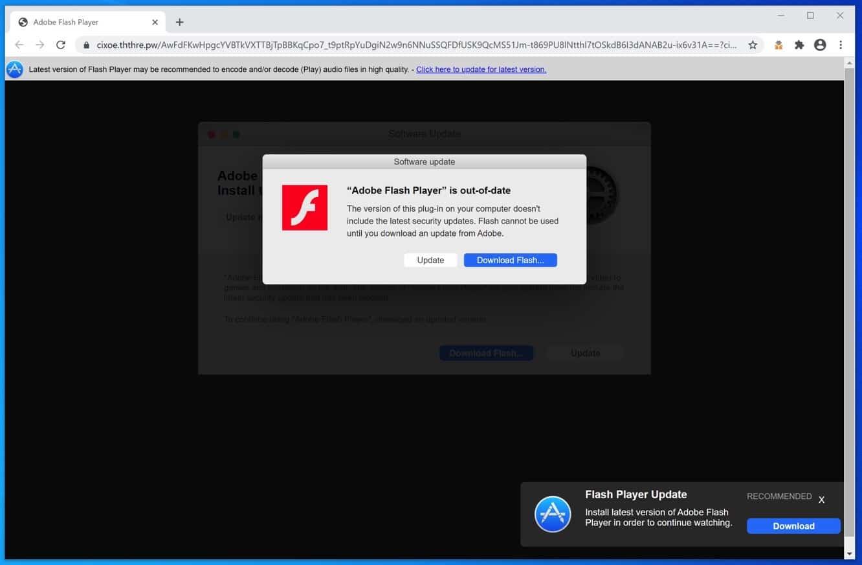 misleidende advertentie die malware installeert op uw computer