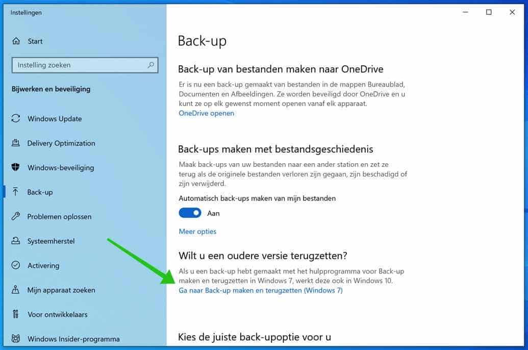 back-up maken en terugzetten windows
