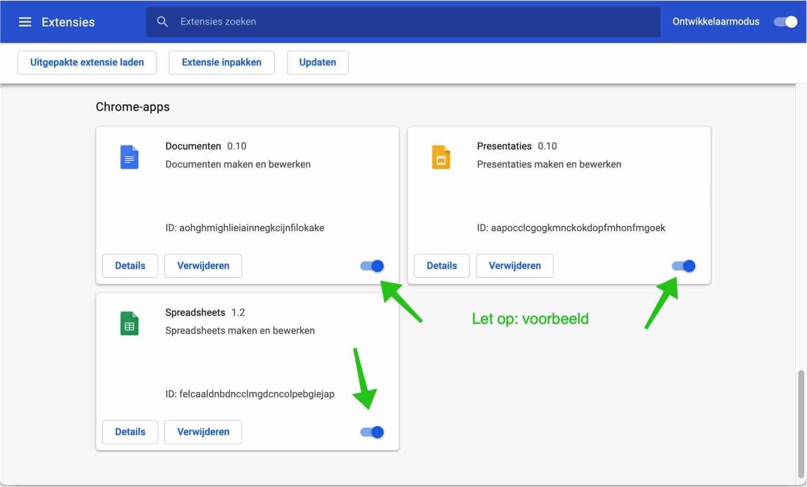 browser extensies uitschakelen google chrome mac