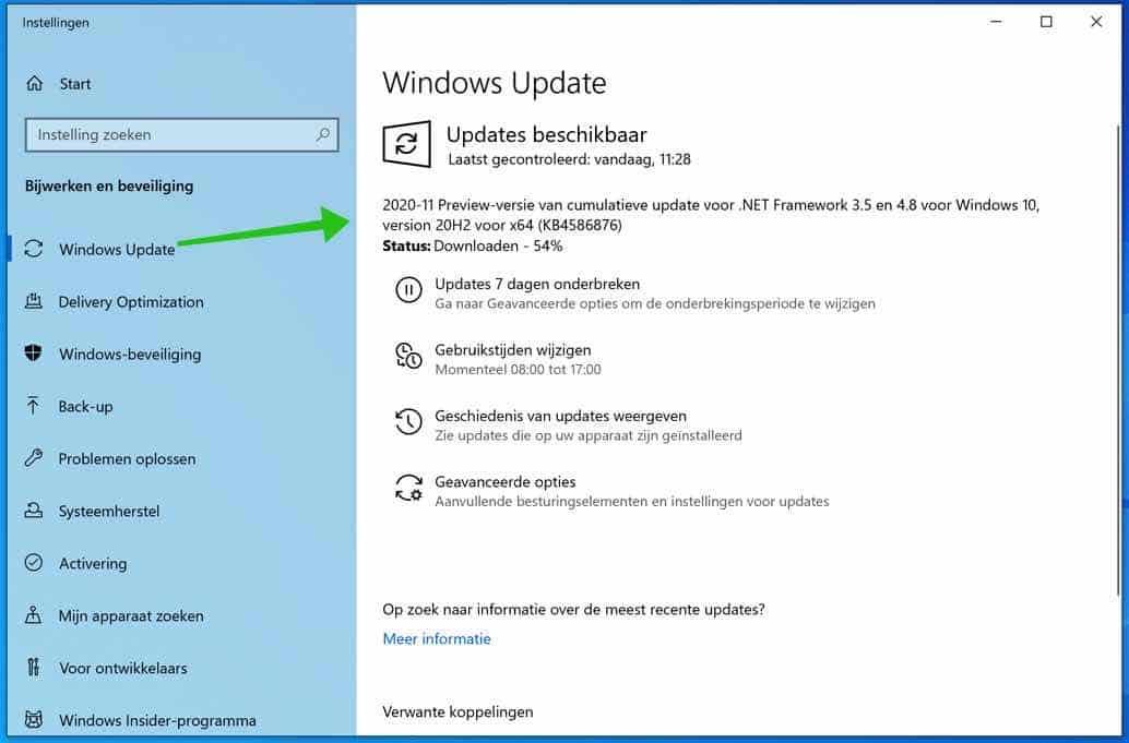 windows updates installeren camera of webcam