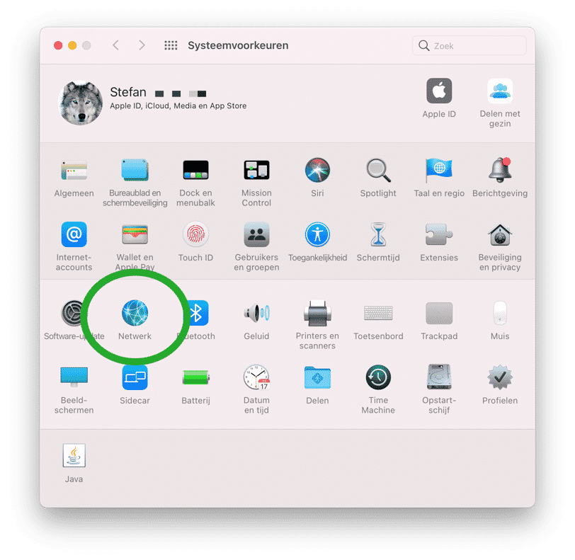 netwerk systeeminstellingen mac