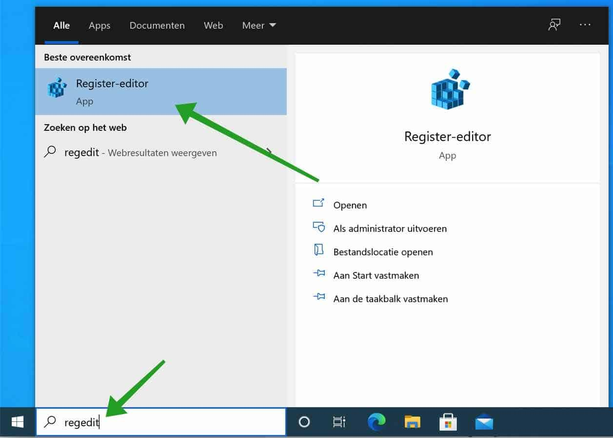 regedit register editor windows