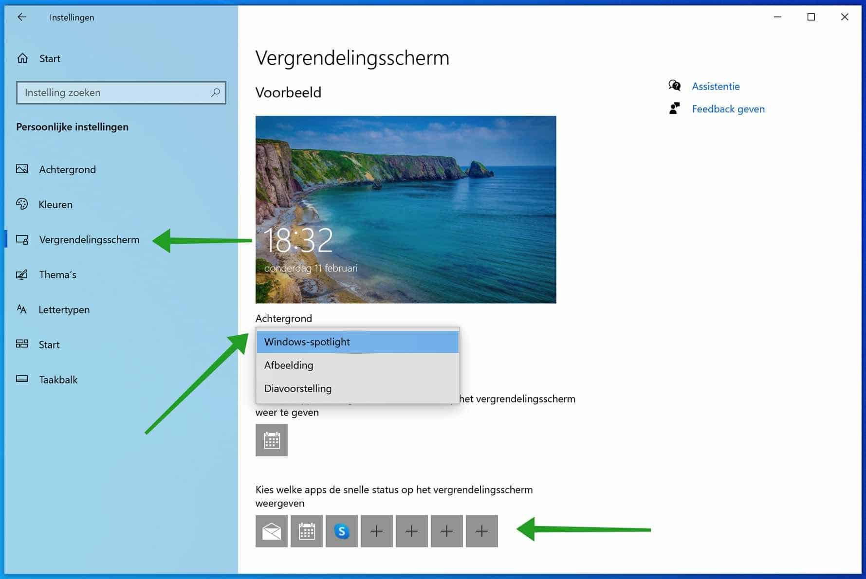 Achtergrond van het Windows vergrendelscherm wijzigen