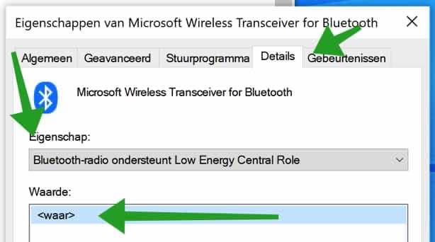 Bluetooth Low energy central role instellingen