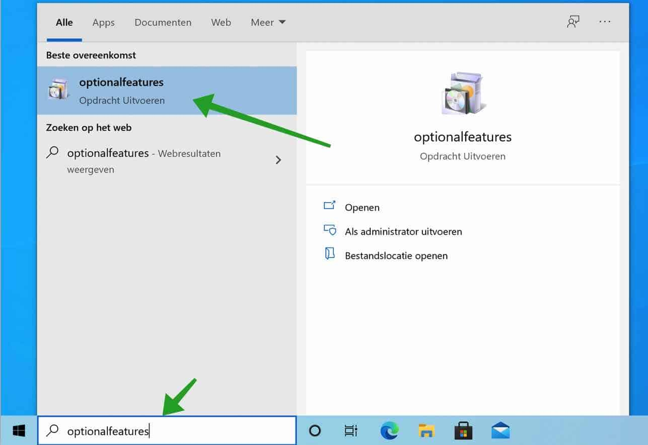 Hyper-v inschakelen in Windows