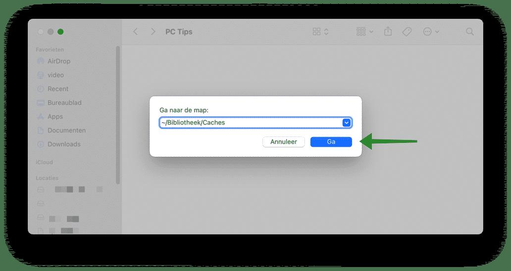 cache bestanden wissen mac