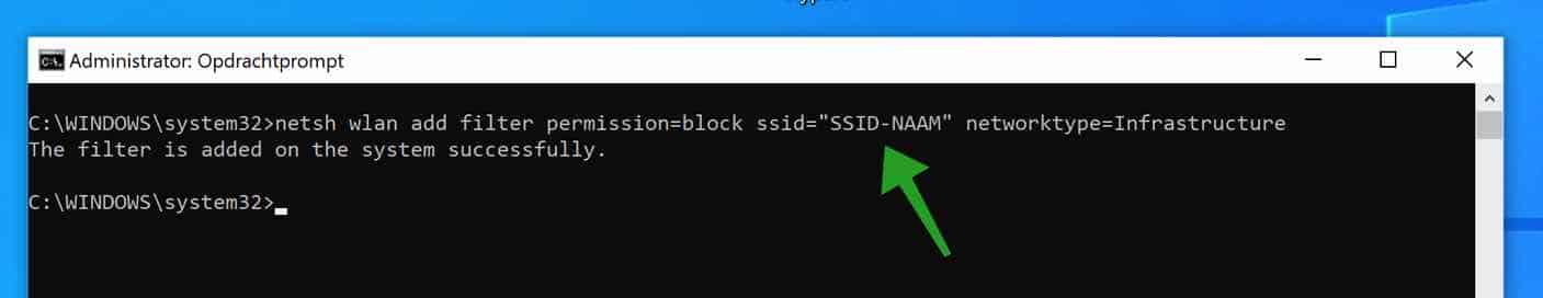 wifi netwerk blokkeren in windows 10