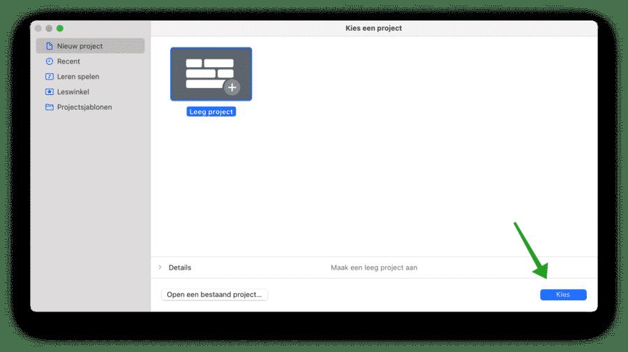 Audio opnemen met Garageband mac
