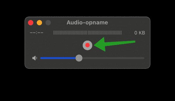 Audio opnemen op Macbook