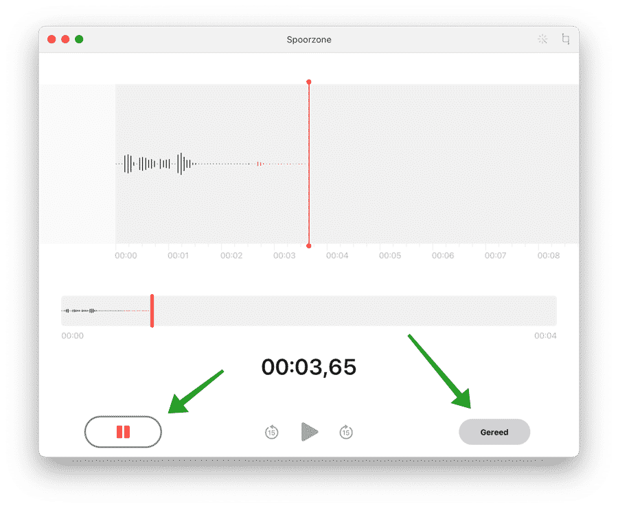 Audio pauzeren Dictafoon mac