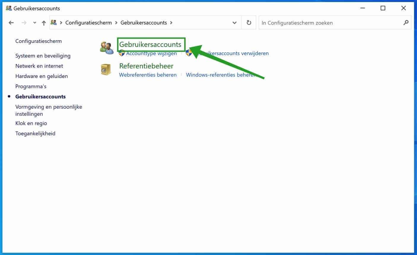 Gebruikersaccounts wachtwoord schijf aanmaken