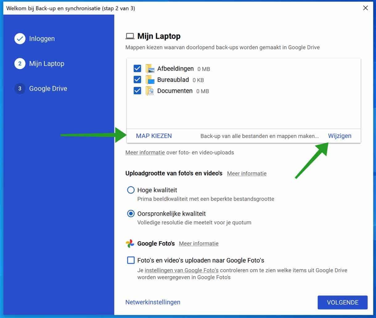 Google back-up en synchronisatie bestandstype uitsluiten