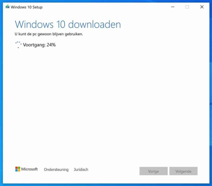 Windows 10 downloaden naar USB flashstation