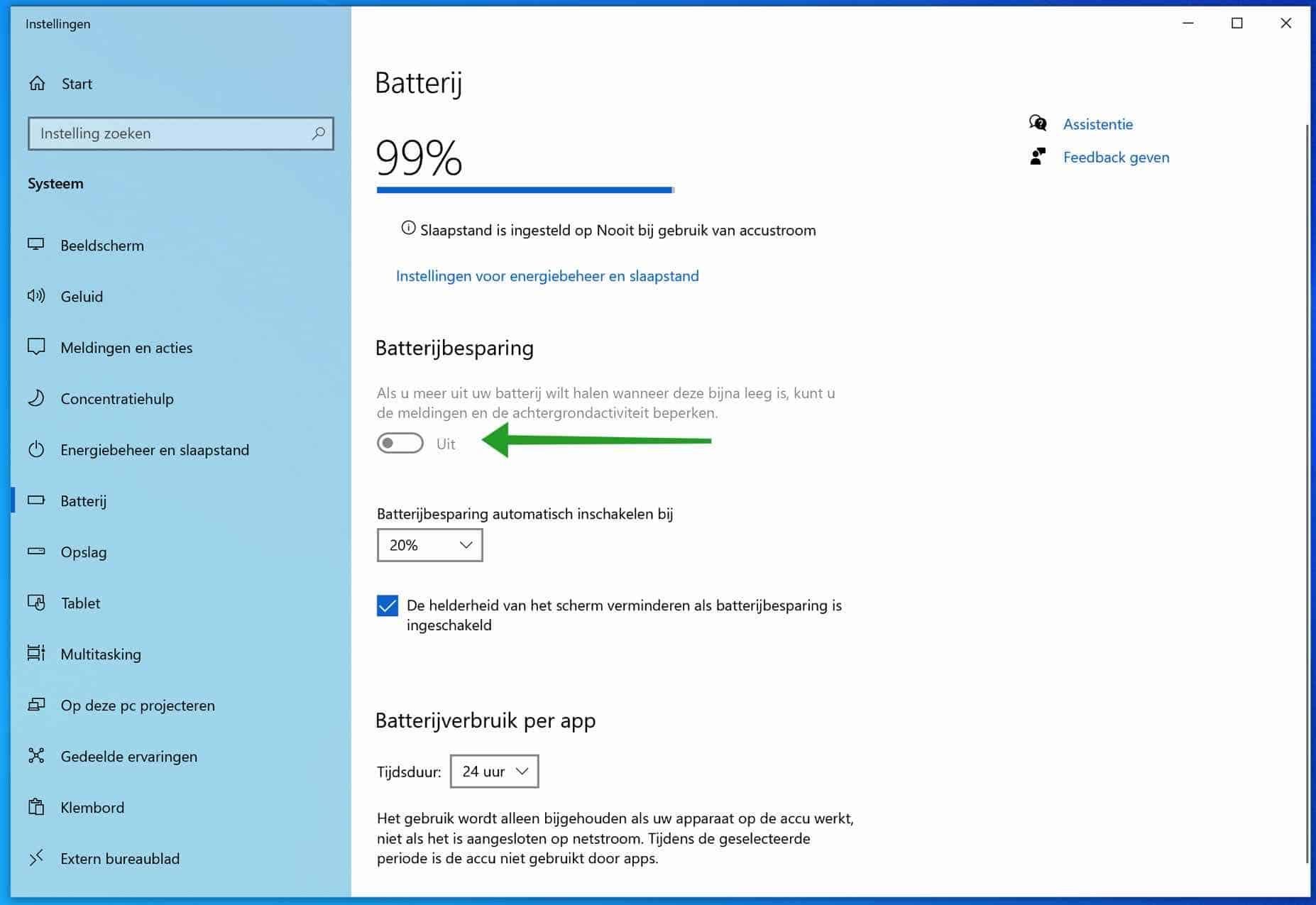 Batterijbesparing inschakelen in Windows 10? Dit is hoe!