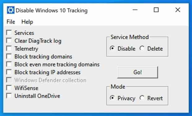 DisableWinTracking