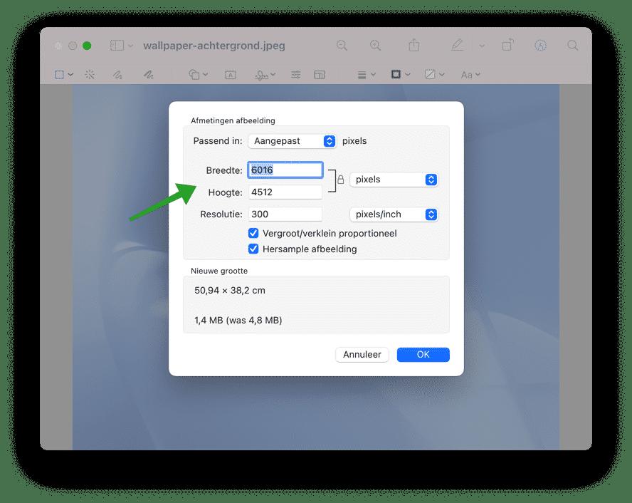 2 manieren om afbeeldingen te verkleinen op Mac