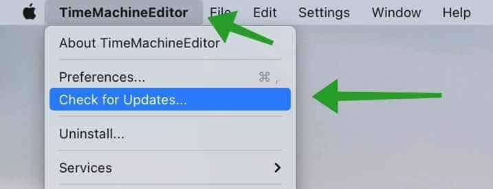 TimeMachineEditor bijwerken naar de laatste versie