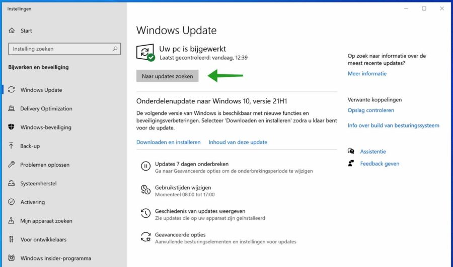 Windows updates installeren