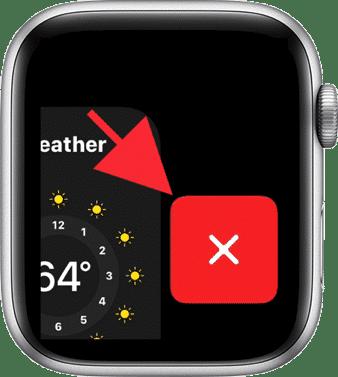 App afsluiten op een apple watch