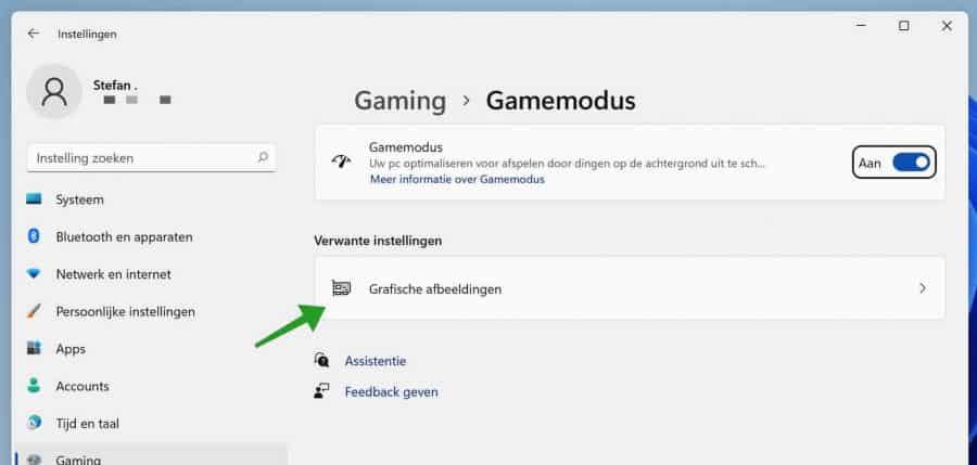Game modus in Windows 11 aanzetten