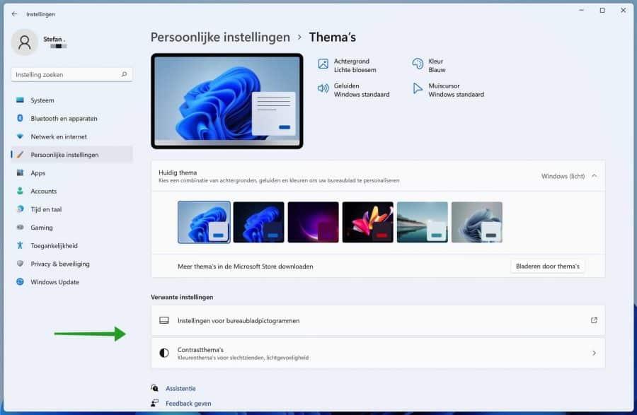 Windows 11 verwante thema instellingen