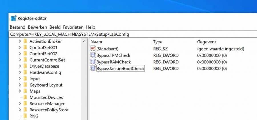 bypass checks register windows 11