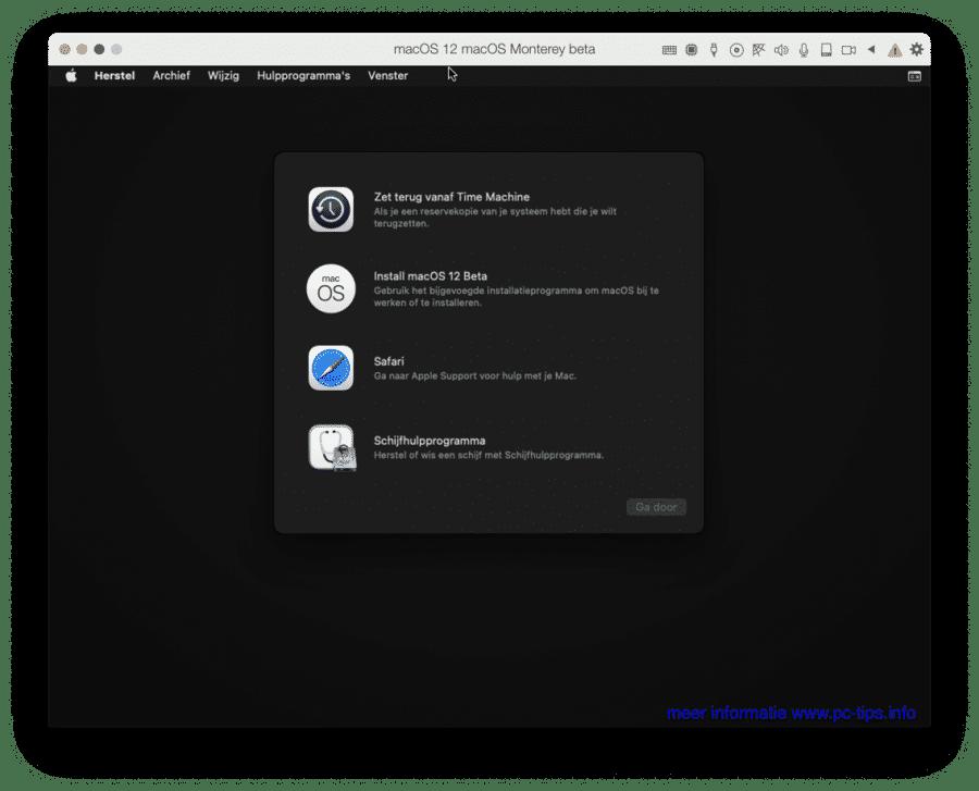 macOS Monterey beta iso bestand