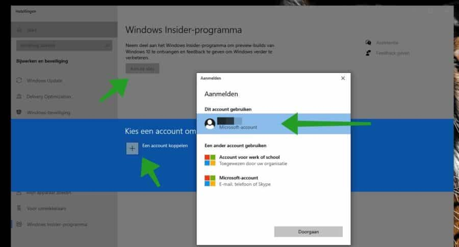 windows insider account
