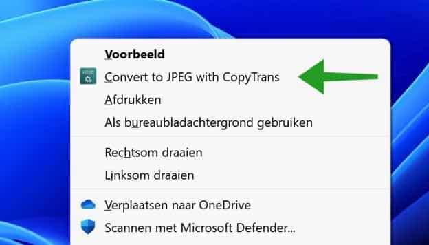 HEIC converteren naar JPG in Windows 11