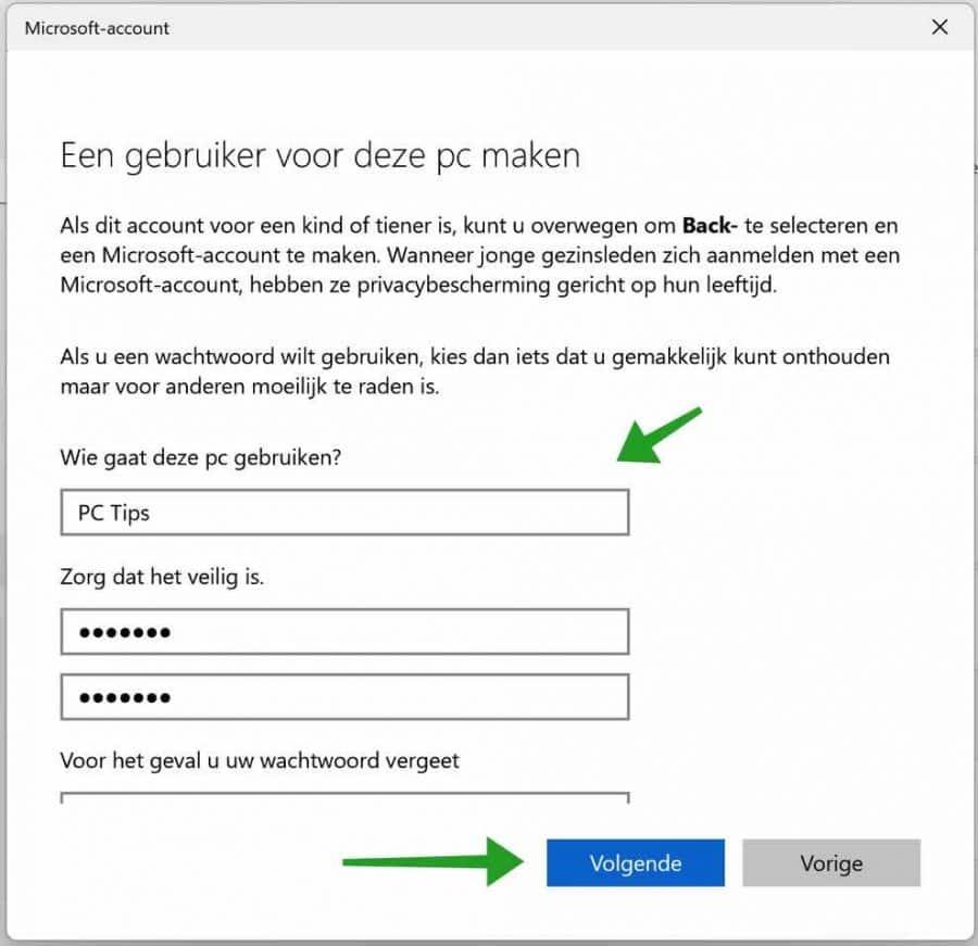Lokale gebruiker toevoegen aan Windows 11