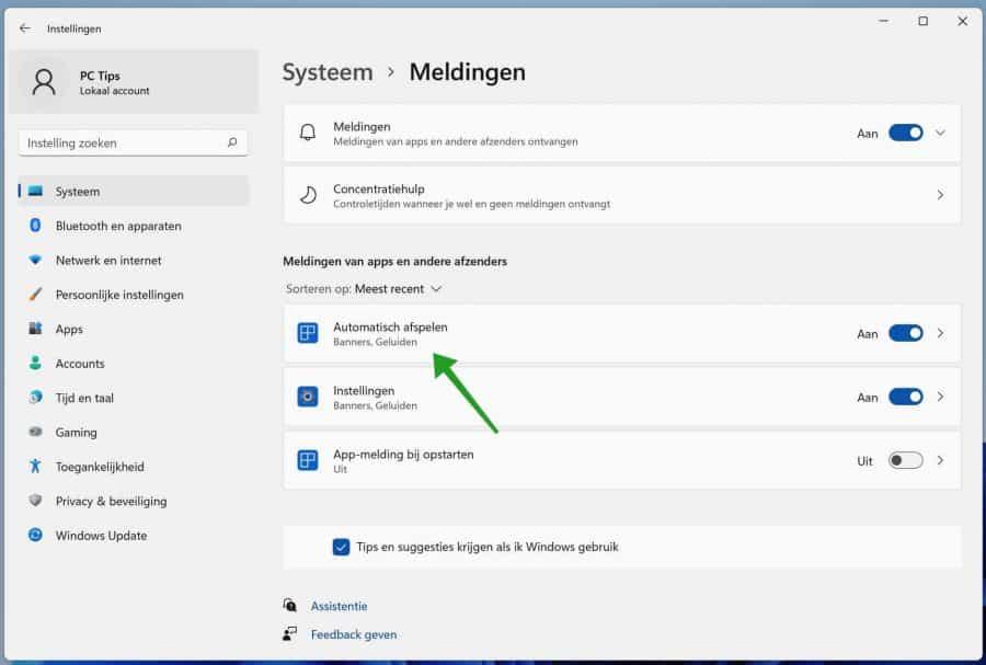 Meldingen stilhouden in Windows 11