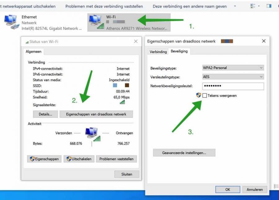 Wifi wachtwoord opzoeken in Windows