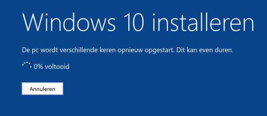 Windows 10 installeren