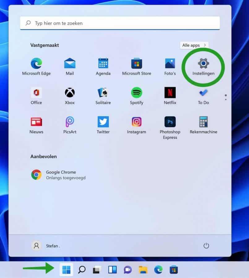Windows 11 instellingen