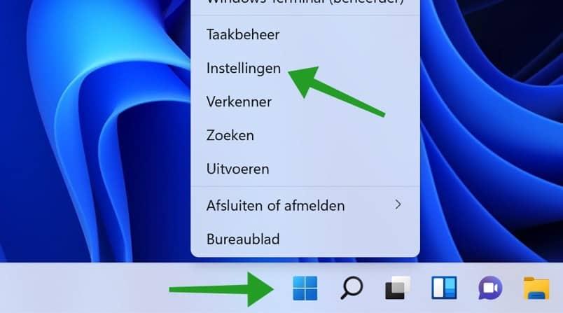Windows instellingen