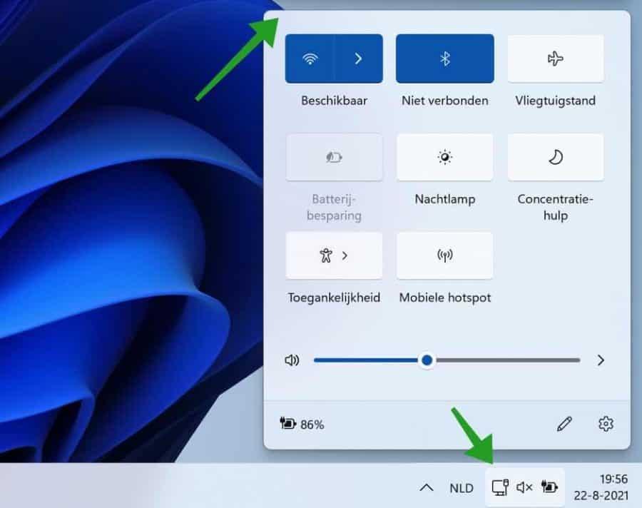 meldingen in het actiecentrum in Windows 11