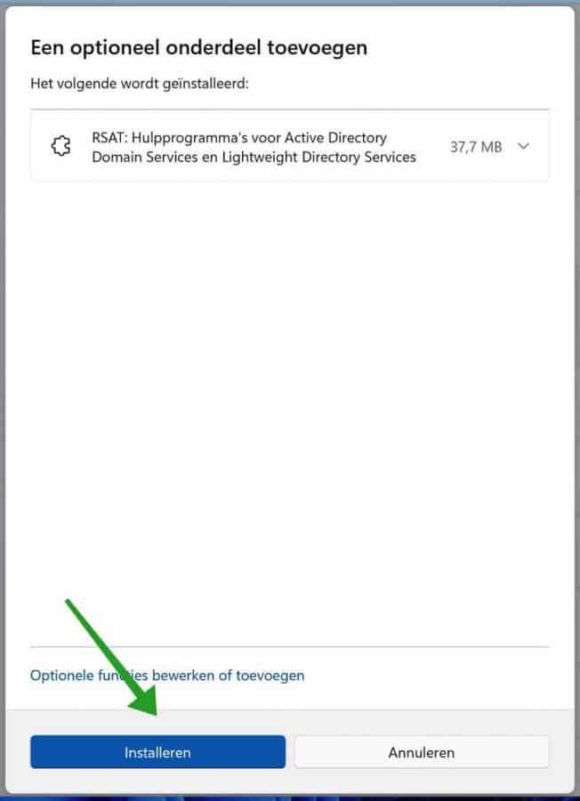 Active Directory installeren in Windows 11