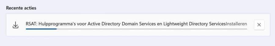 Active directory installatie