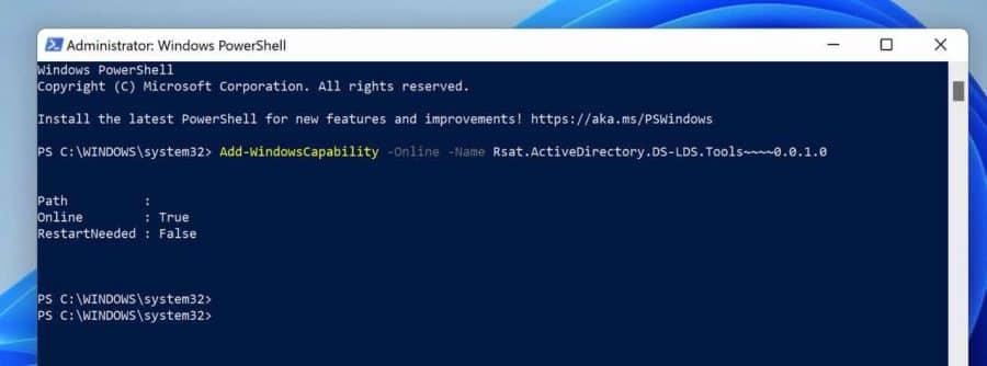 Active directory via Powershell installeren