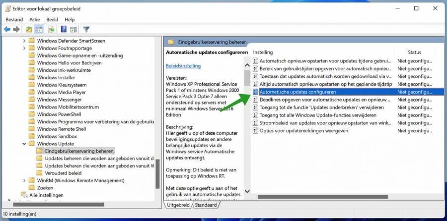 Automatische updates configureren