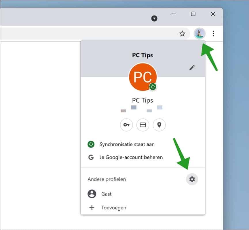 Chrome profiel beheren