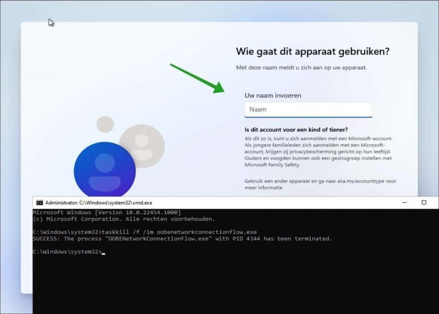Microsoft Windows 11 met lokaal account installeren